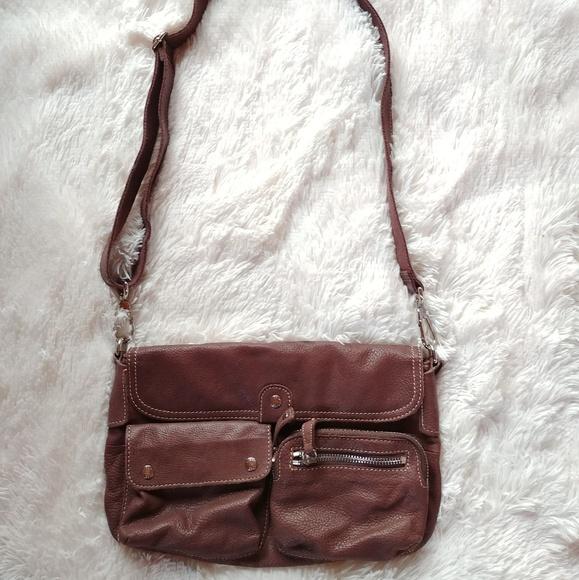 123c3af5f50f27 Fossil Bags | Leather Pocket Crossbody Messenger Bag | Poshmark